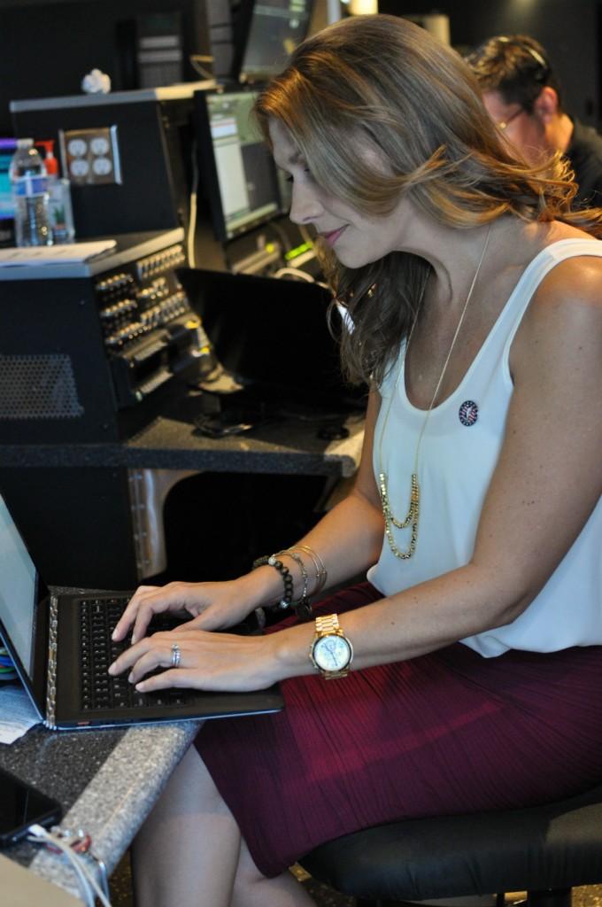 Kristen Typing Truck